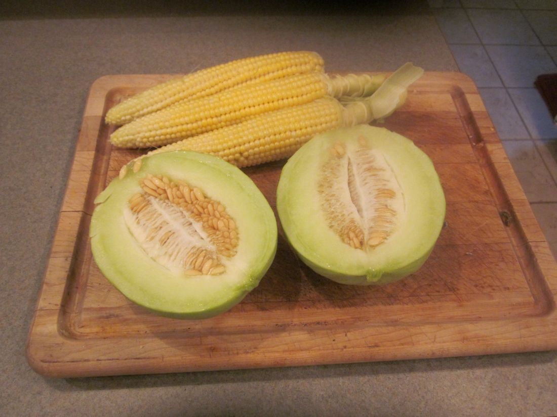 corn and melon